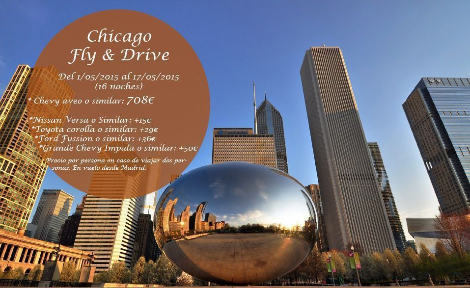 Chicago Fly & Drive 16 noches  Mayo