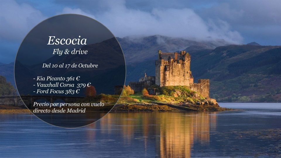 Fly and drive Escocia