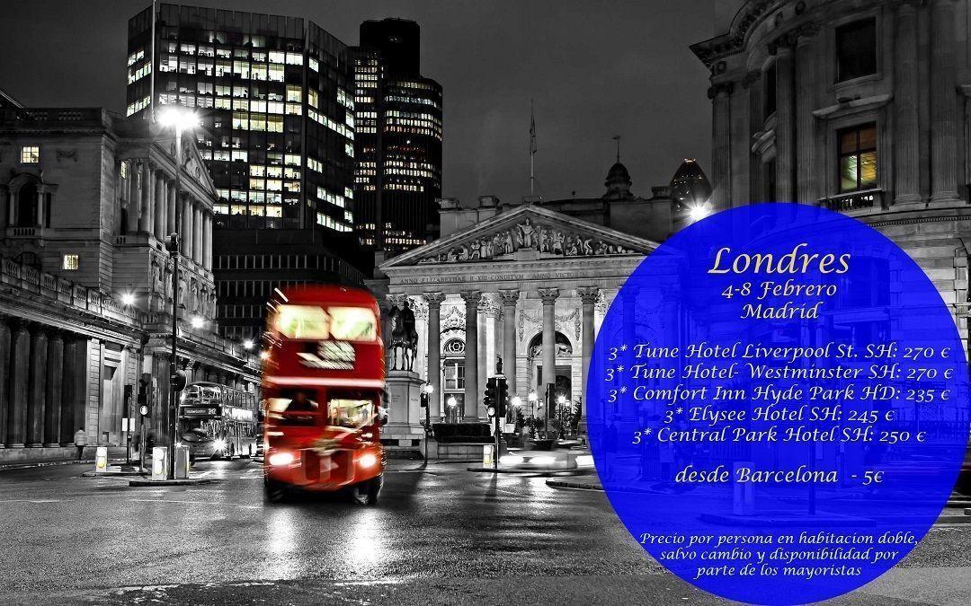 Londres madrid 4 al 8 febrero viajes callejeando por el for Londres hotel madrid