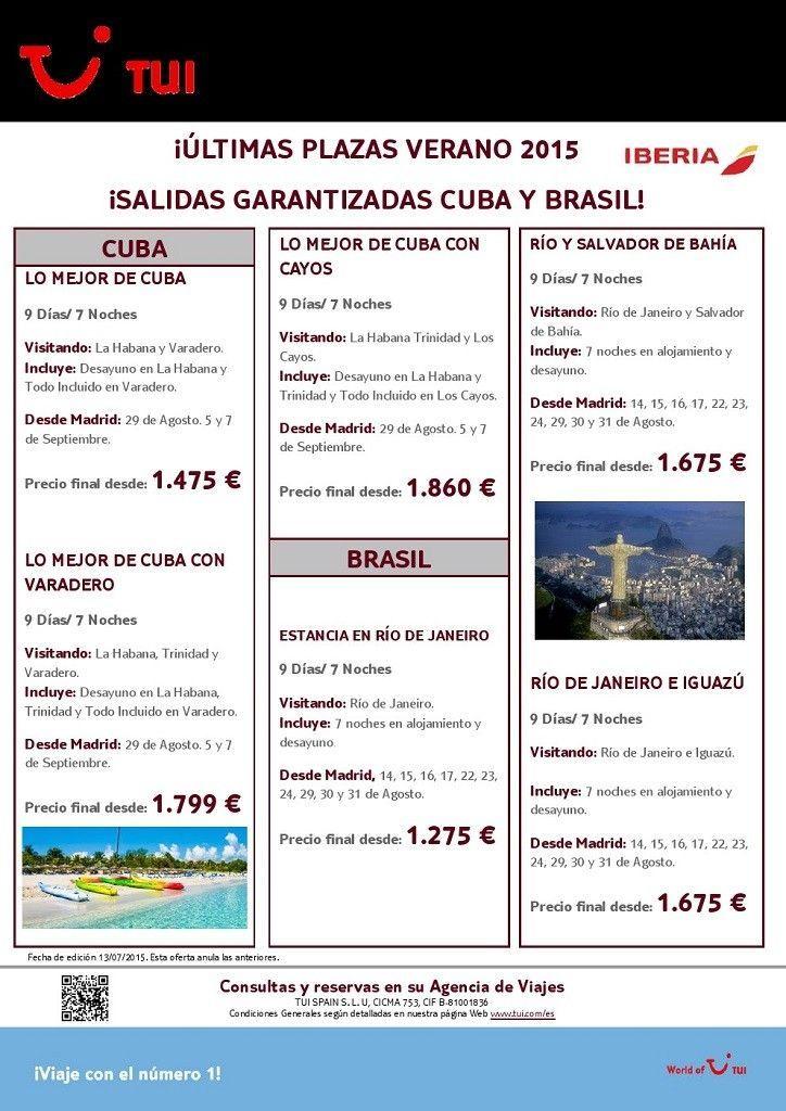 TUI - CUBA Y BRASIL VERANO 2015