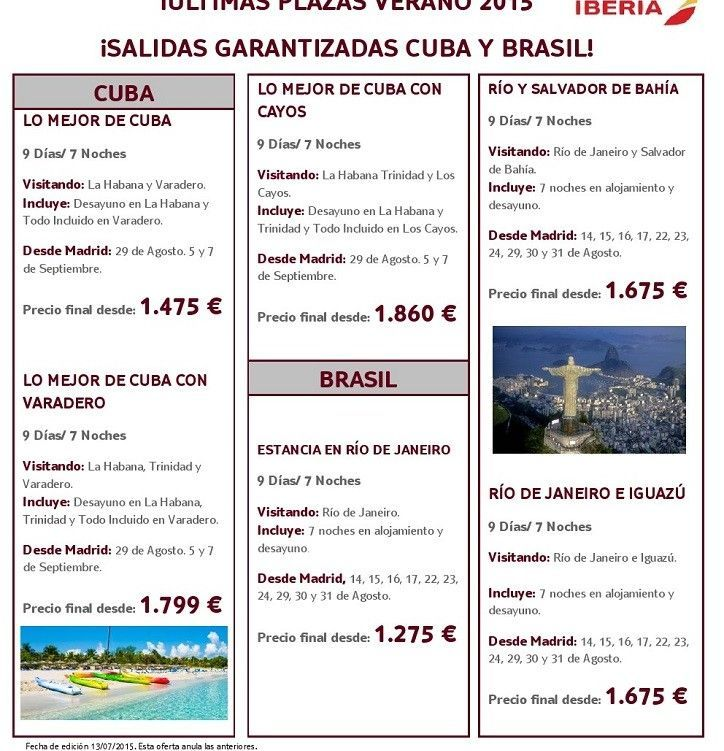 TUI - CUBA - BRASIL VERANO 2015