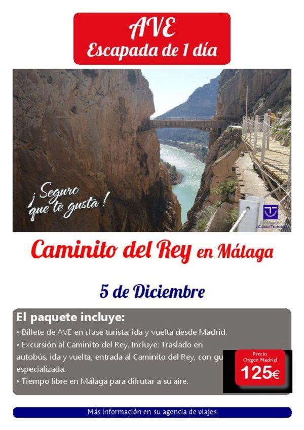 CAMINITO DEL REY MALAGA 5 diciembre