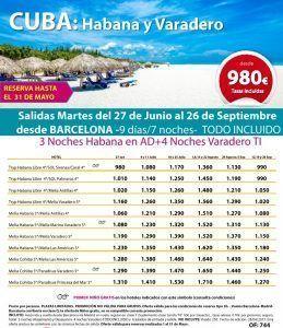 CUBA - Habana Varadero - Barcelona