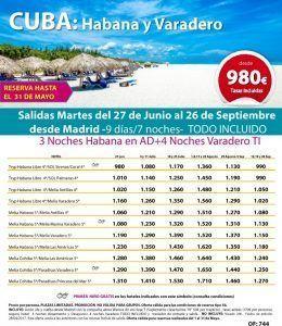 CUBA - Habana Varadero - MADRID